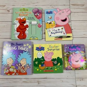 Bundle of 5 Toddler Baby Board Books Peppa Pig